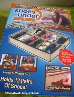 under the bed shoe organizer, by bitsandtreats