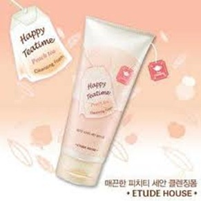 etude house happy tea time peach cleansing foam