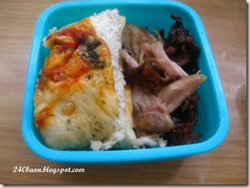 olive foccacia and roasted chicken bento, by 240baon