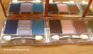 nichido stardust palettes in blue lagoon and totally neutral, by bitsandtreats