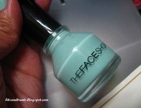 the face shop nail polish in mint, by bitsandtreats
