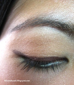 maybelline gel eyeliner in brown swatch, by bitsandtreats
