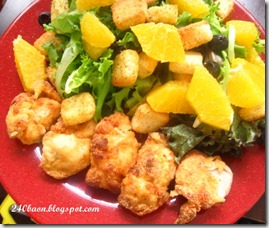 homemade chicken nuggets and salad, by 240baon