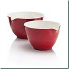 M&s red bowls