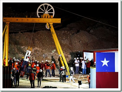 chile miners paves