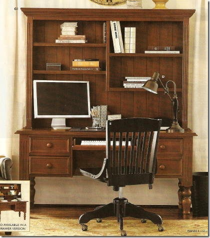 Ballard desk & hutch