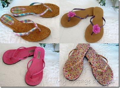 Pink flip flop collage