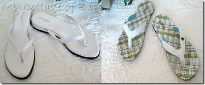 White flip flop collage