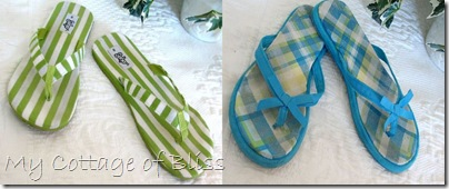 Green & blue flip flop collage