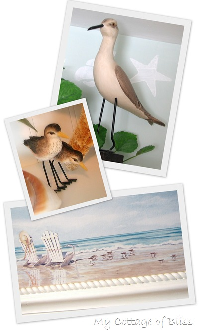 shore bird collage