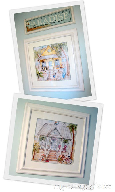 beach cottage collage