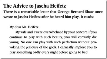 shaw to heifetz