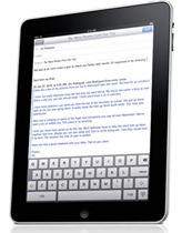 iPad onscreen keyboard