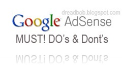 Google ADsense Do's and Don'ts..