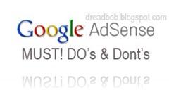 Google ADsense Do's and Don'ts..