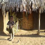 Malawiaans huis met inwoner