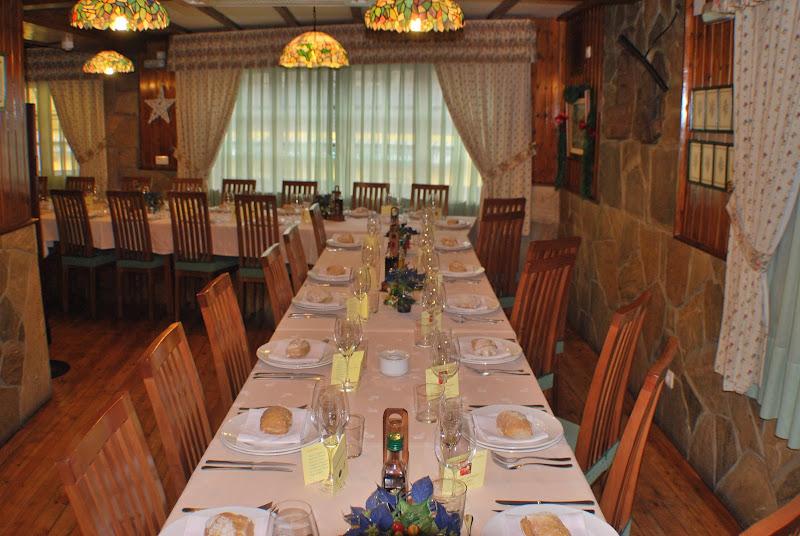 Comedor montado para banquete
