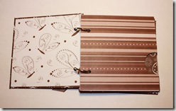 Mini Album 4x4 Brown Inside2