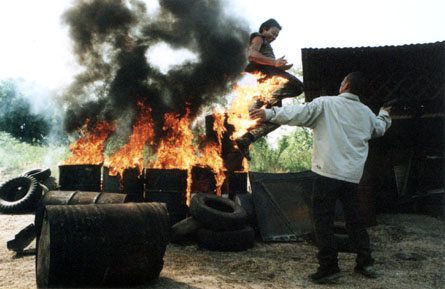 Tony Jaa does not pay any heed to the flames engulfing his body. He sees only Opportunity.