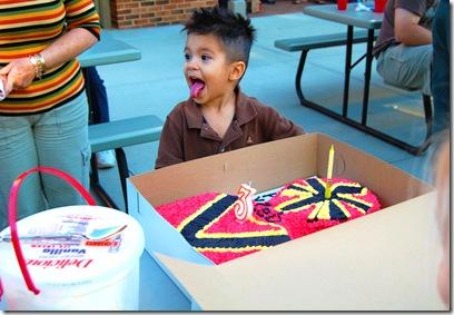 zeb with cake