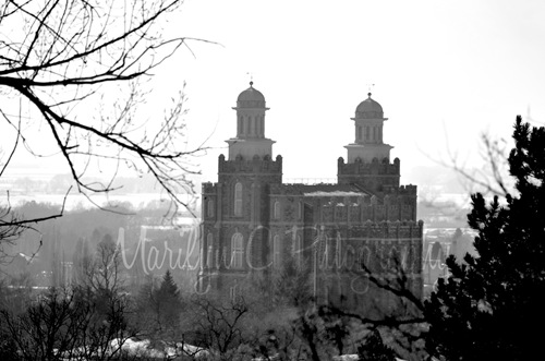 Logan Utah Temple Sepia MCP