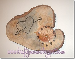 Wood Clock  081 kraftymum blog