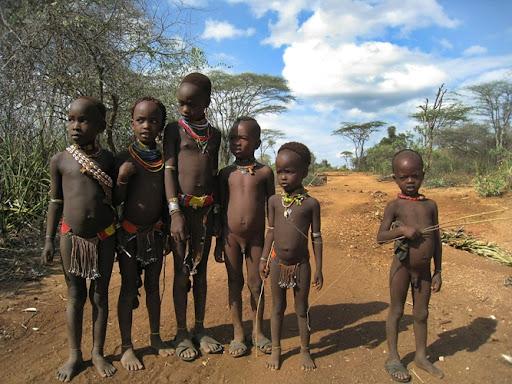 Etiopija. Hamerių gentis.