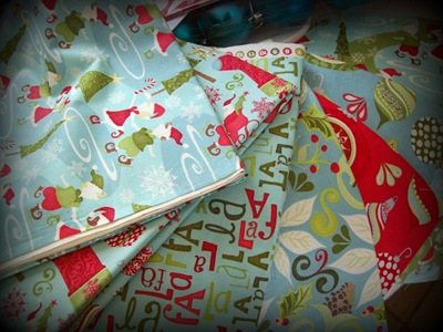Xmas 12 days of xmas fabrics