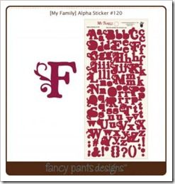 Alpha Sticker - My Family