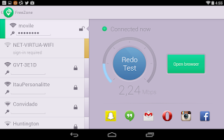 Screenshot of Free Zone - Free WiFi Scanner