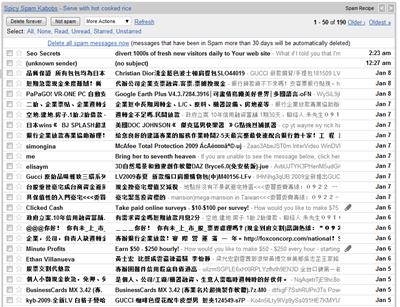 SPAM E-Mails von einem anderen Konto