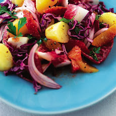 Hot Potato, Red Cabbage And Orange Salad Recipe