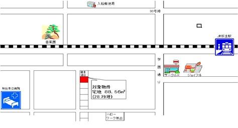文京町地図ペイント