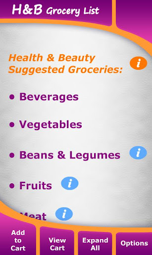 Health Beauty Grocery List