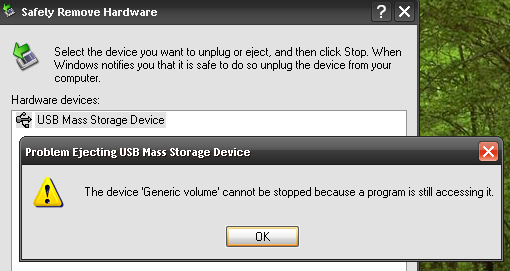 how to unplug external hdd