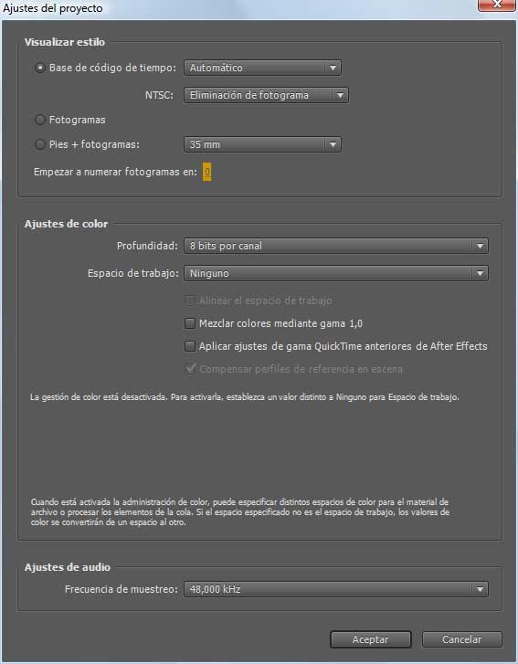 ajustes de composicion y proyecto en after effects | Lc tutorial ...