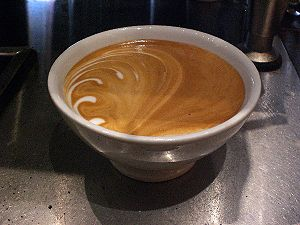 Coffee being served in a bowl