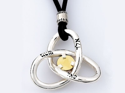 The 5 Metals Pendant - The Torus Knot
