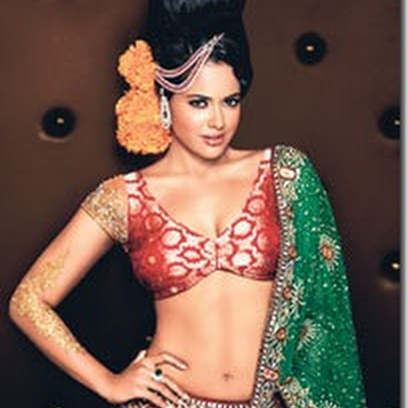 Sameera Reddy in Bridal Gown