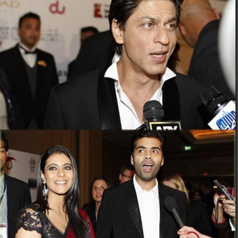 SRK,Kajol and Karan rock Abu Dhabi