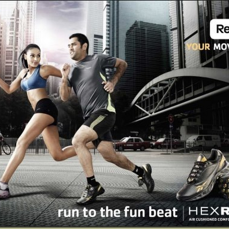 Dhoni and Bipasha Basu in Reebok Ad Photos
