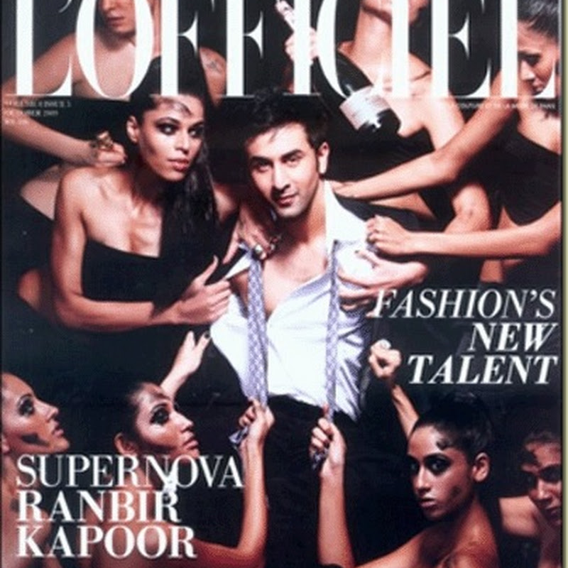 Ranbir Kapoor's sensational cover look for the October issue