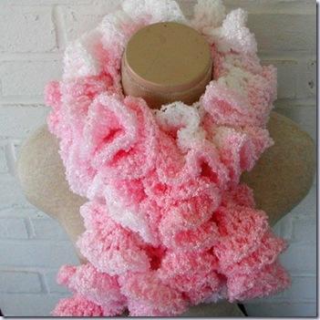 blazingneedles pink scarf 517