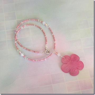 katzskreations pink neckalce 517