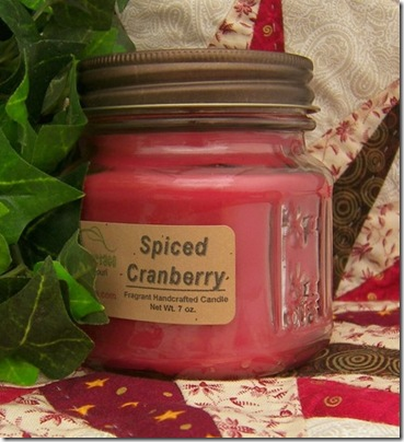 spiced cranberry candle ajs country cottage
