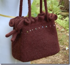 maddyandme dark chocolate felted purse