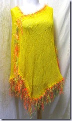 stitchesbyjulie ladies yellow poncho