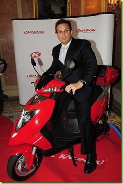 10-08-2010; Rio de Janeiro; Presidente da Kasinski, Claudio Rosa Junior no Anúncio da Kasinski Motocicletas da construção da primeira fábrica de bicicletas, scooteres e motocicletas elétricas no país; Foto: Marino Azevedo