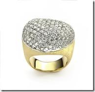 Copy of anel golden stones com bri