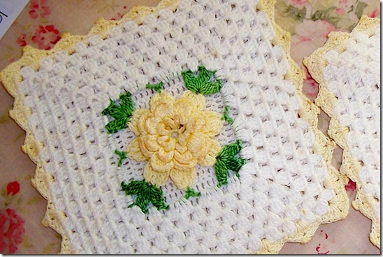 close up potholder